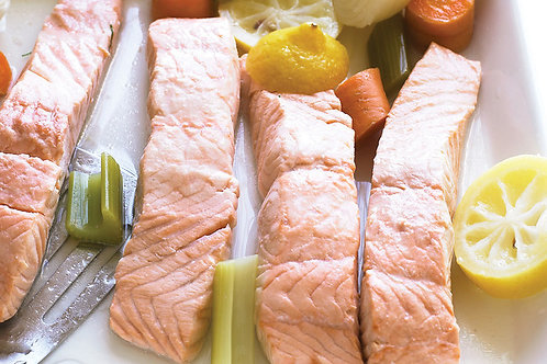 Poached Salmon - Serves 3-6