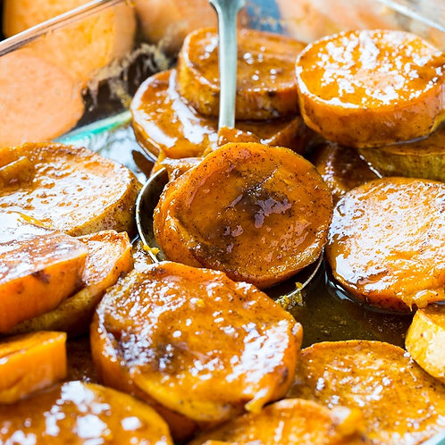 Candied Sweet Potatoes - Serves 3-6