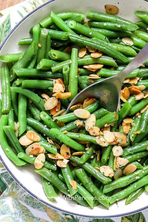 String Beans Almondine - Serves 3-6