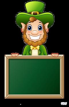 cartoon-leprechaun-holding-chalkboard-si