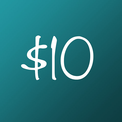 $10 One Time Gift!