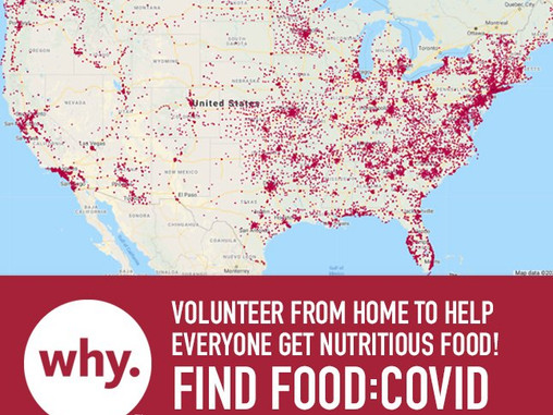 COVID-19 Hunger Relief: WhyHunger launces largest crowd sourced map.