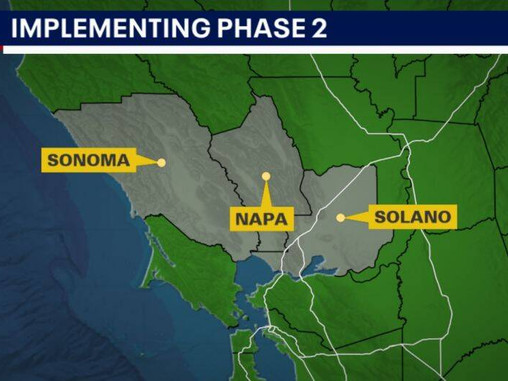 3 Bay Area counties to implement Phase Two of reopening, remaining 6 counties delay modification