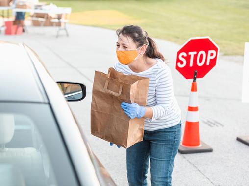 Emergency Food Distribution (Pleasanton Fairgrounds)
