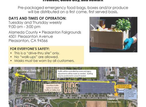 Drive Through Emergency Food Distribution