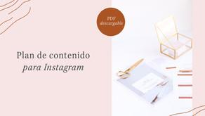 Plan de contenido para Instagram (freebie + tips)