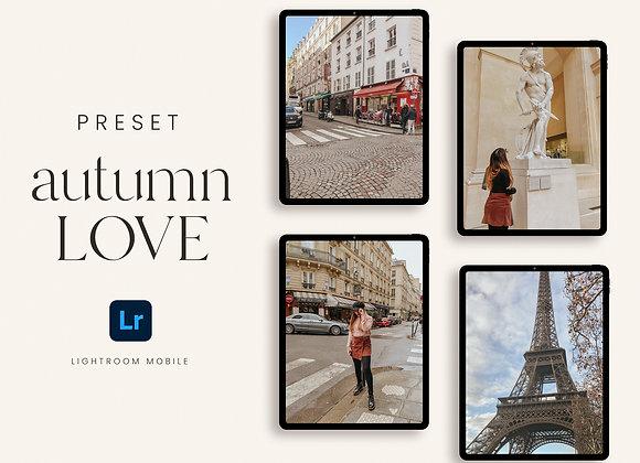 Preset Autumn Love para Lightroom Mobile