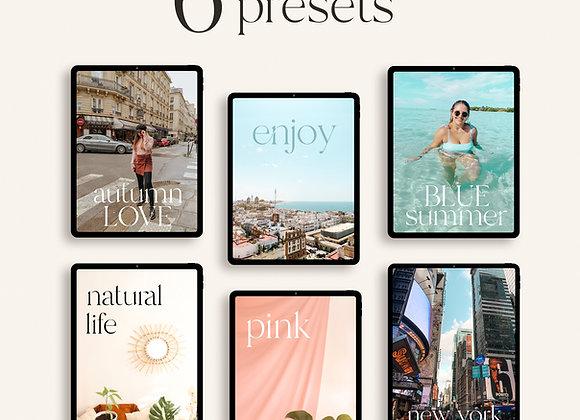 Pack de 6 Presets para Lightroom Mobile