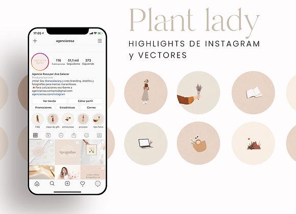 Portadas Highlights y vectores Plant Lady