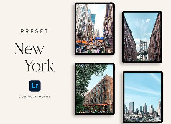 Preset New York para Lightroom Mobile