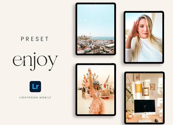 Preset Enjoy para Lightroom Mobile