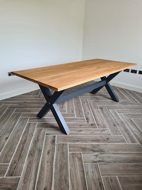 The Oak X Base Table