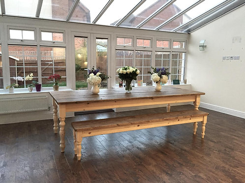 The Original Rustic Shabby Chic Dining Table with Bench