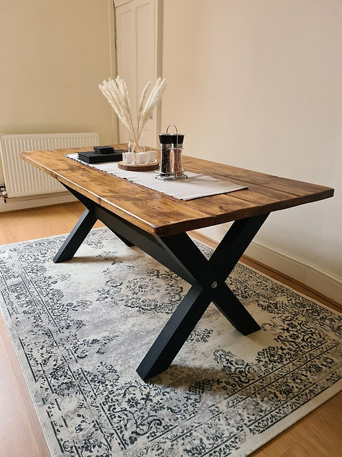 The Rustic X Base Table