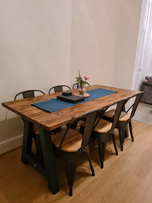 The Rustic A Frame Table Dining Set