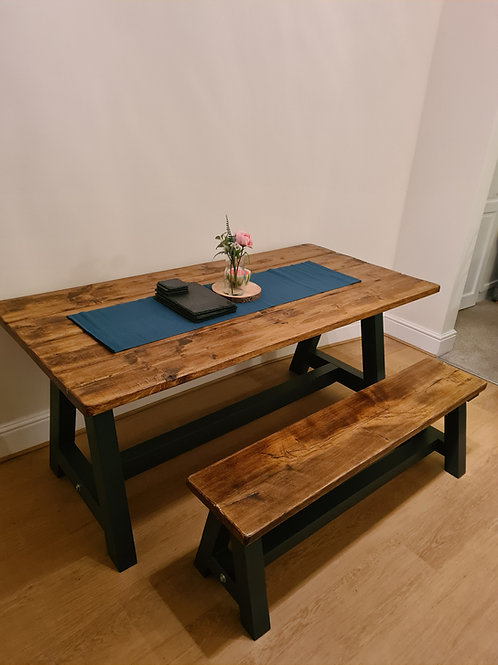 The Rustic A Frame table with bench