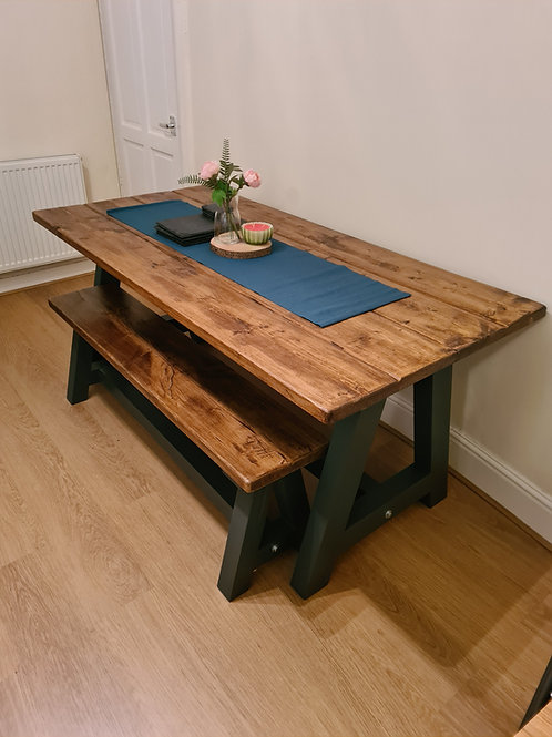 The Rustic Shabby Chic A Frame Dining Table