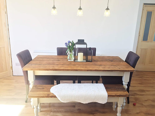 The Rustic shabby chic dining set