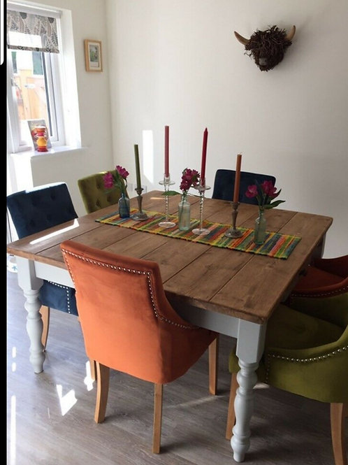 Square Rustic Shabby Chic Dining table