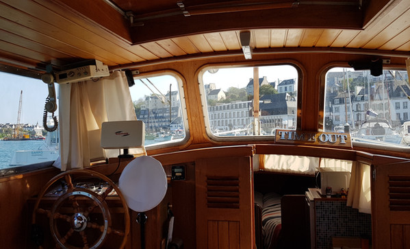 Interior view of the Yacht Time Out