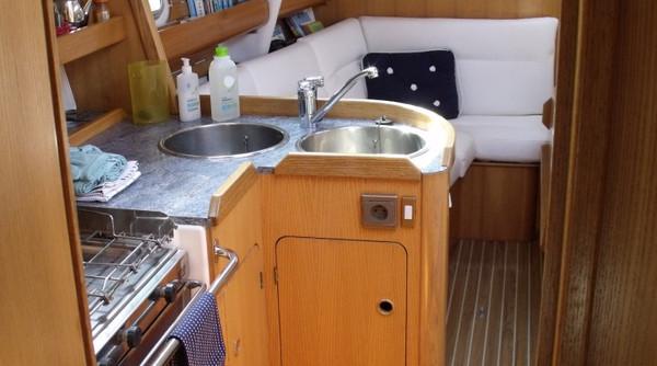 Atlantis sailboat galley and crew room