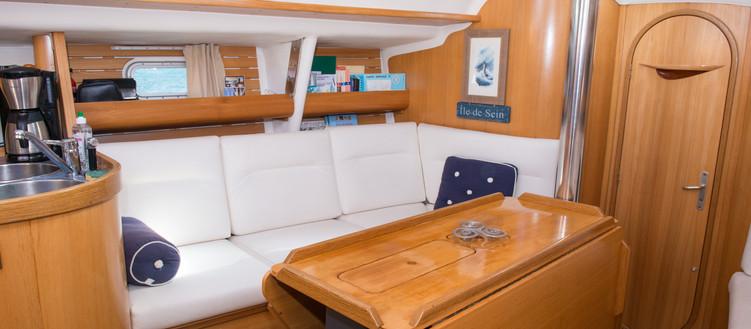 Sailing crew cozy sailboat Atlantis