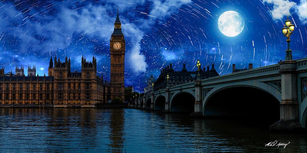 Starry Night in London Panoramic