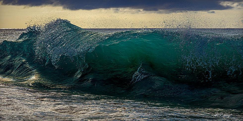 Sunset Wave Panoramic