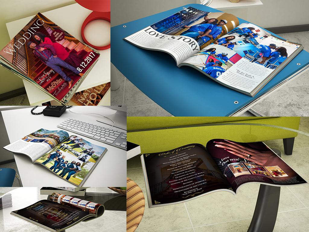 Custom Magazine Wedding Program
