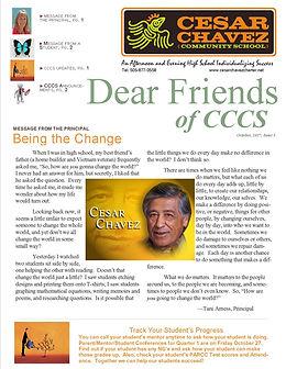Dear Friends of CCCS Newsletter, September 2016.