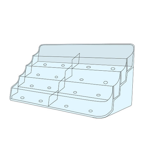 Acrylic Business Card Holder - 8 Bay