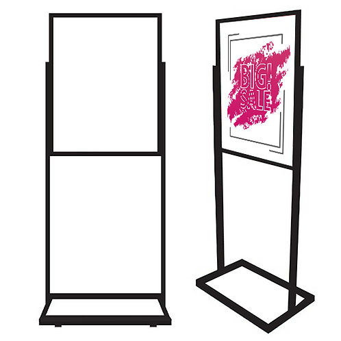 Bulletin Floor Sign Holder - BR28 Black