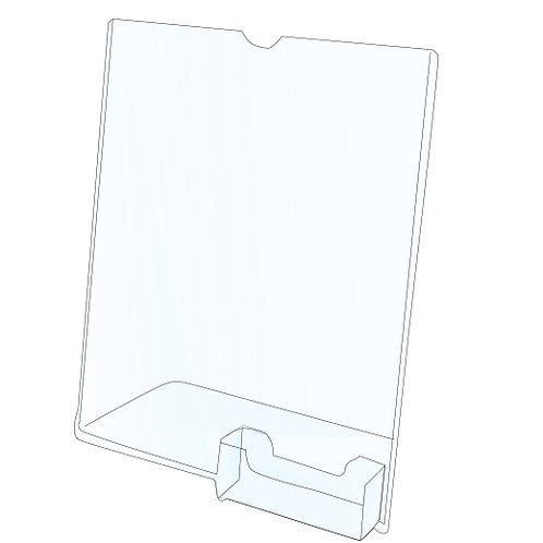 Acrylic Slanted Holder With Business Card Holder