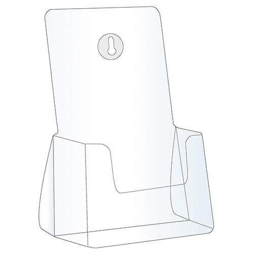 Acrylic Brochure Holder - 4 BAY LETTER SIZE