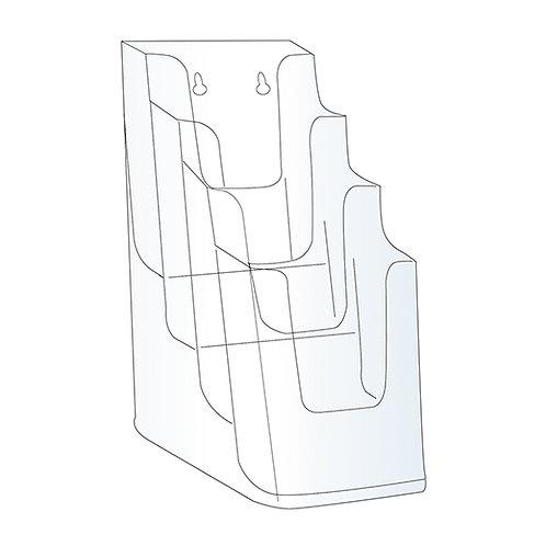 Acrylic Brochure Holder - 4 Bay