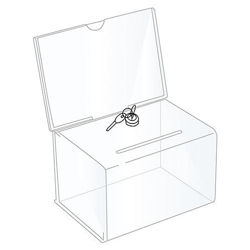 Acrylic Ballot Box - BBOX004L