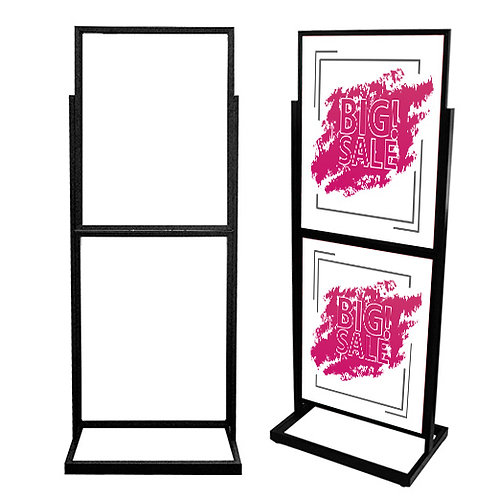 Bulletin Floor Sign Holder - BH55 Black