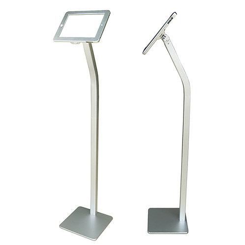 Floor Standing Ipad Stand - Silver