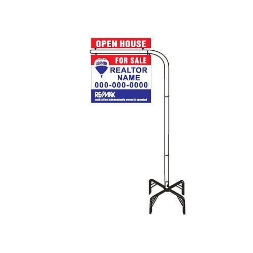 Lawn Sign Post w/ Cross Base