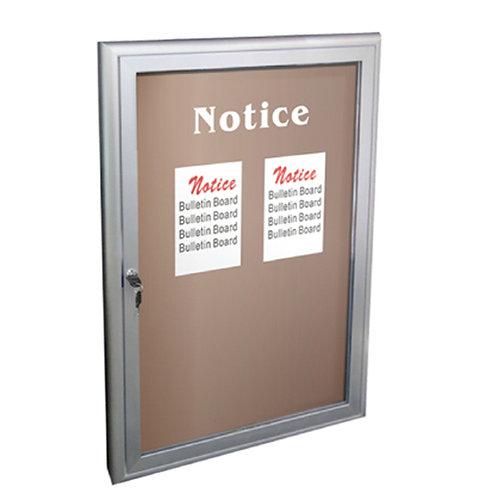 Locking Bulletin Board - Indoor