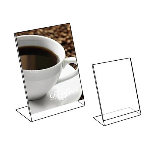 """Acrylic Slanted Holder - 8.5""""W x 11""""H"""