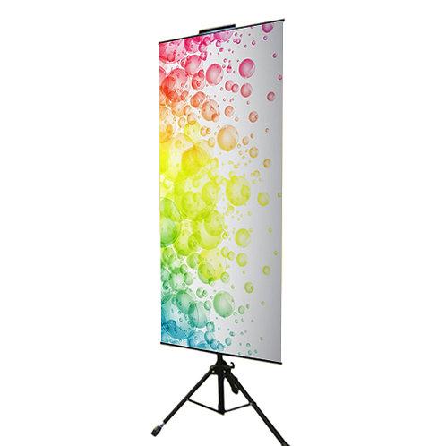 Floor banner stand