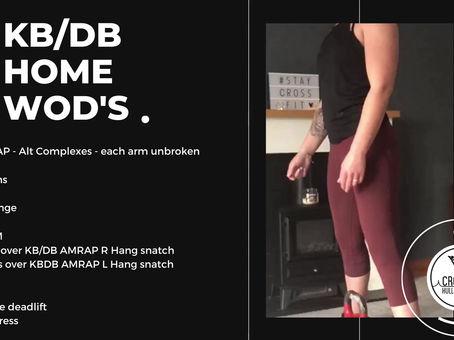 KB/DB WODS - Week 3