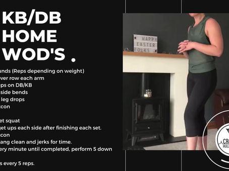 Week 4 DB/KB WODs