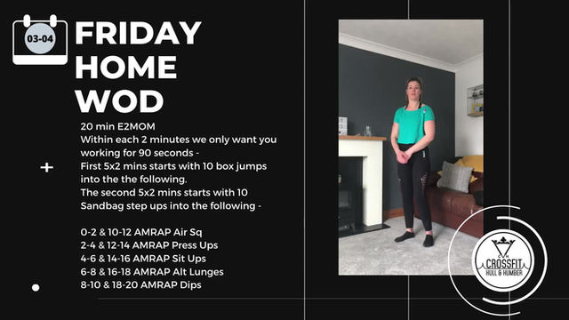 Friday 03rd April 2020 - Home WOD