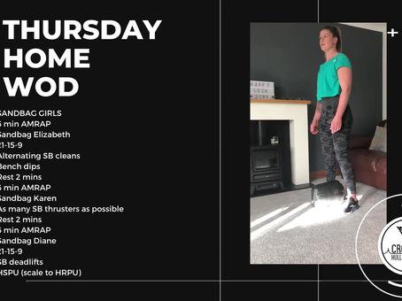 Thursday 23rd April 2020 - Home WOD