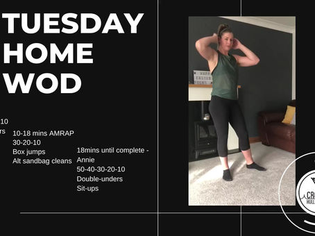 Tuesday 14th April 2020 - Home WOD