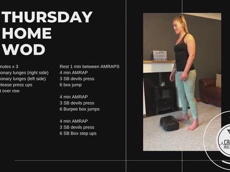 Thursday 30th April 2020 - Home WOD