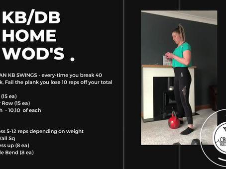 Week 2 - KB/DB WODS