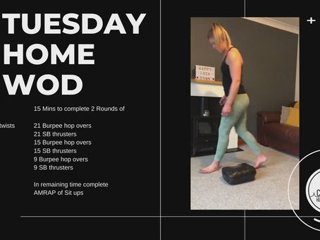 Tuesday 28th April 2020 - Home WOD